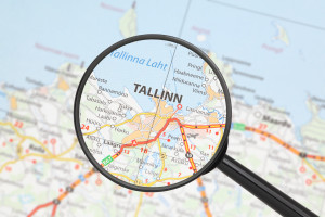 Destination - Tallinn (with magnifying glass)